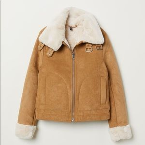 H&M Biker Jacket with Faux Fur Lining!